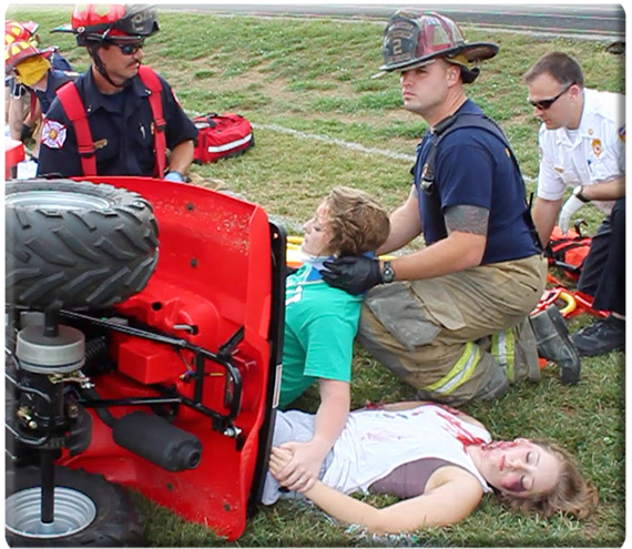 Farm Tractor Pto Accidents : Mock accident sends safety message launches farm