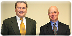 Commissioner James Comer (left) pictured with new deputy state veterinarian, Dr. Bradley A. Keough, (right)