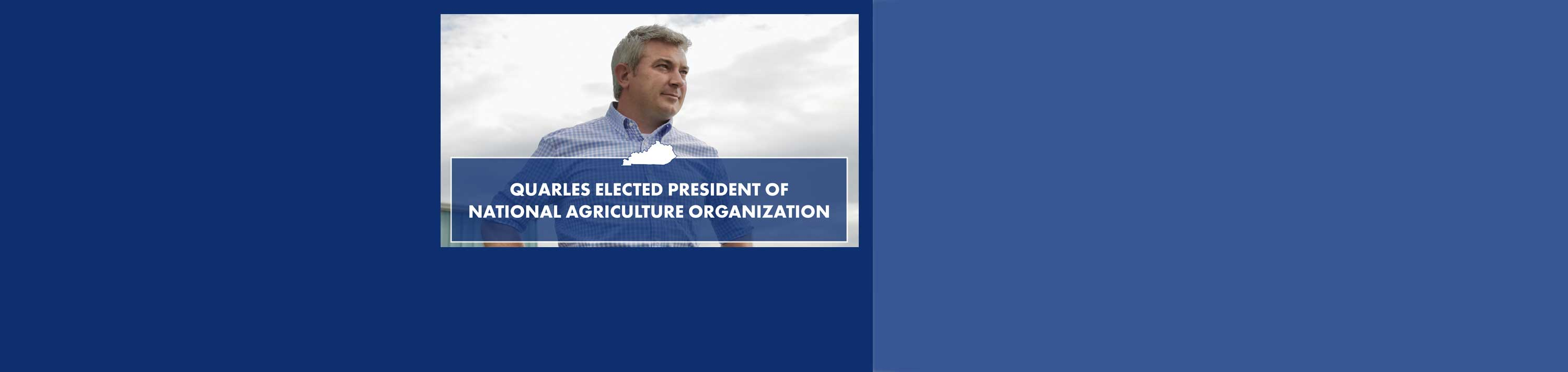 Quarles elected president of national agriculture organization