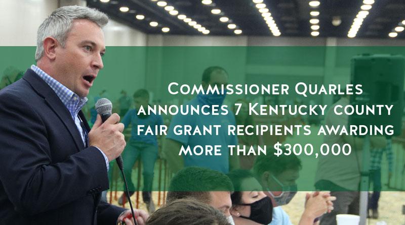 Quarles announces seven county fair grant awards