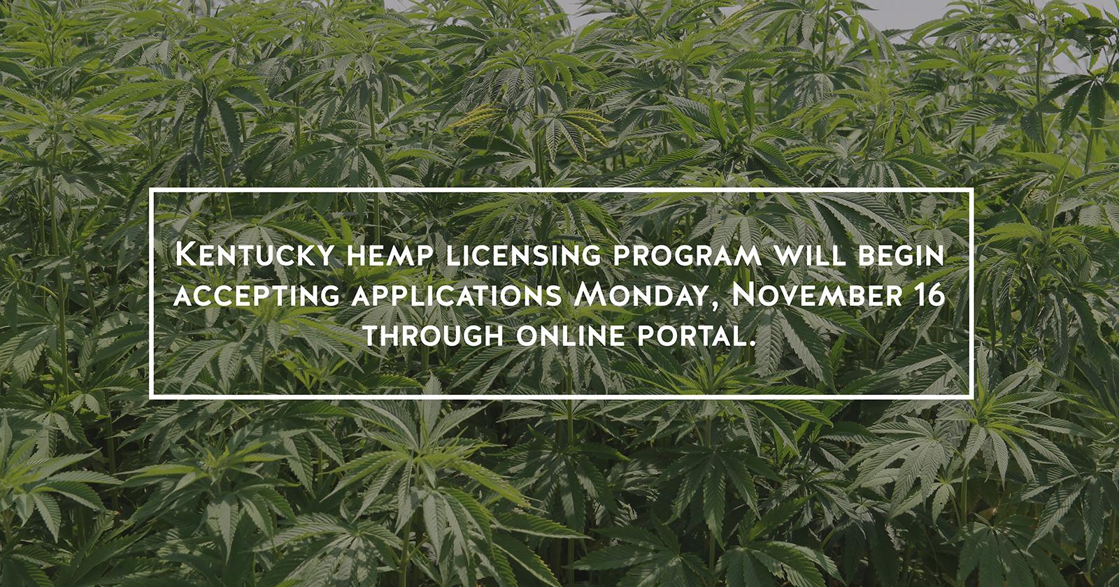 Kentucky hemp application portal