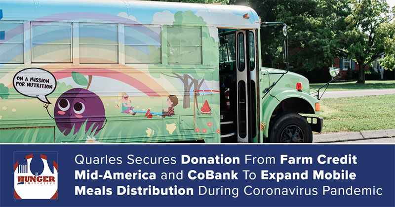 Quarles Secures Donation Expands Mobile Meals During Coronavirus Pandemic
